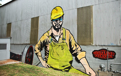 Stein Steel's mural looks toward the BeltLine.