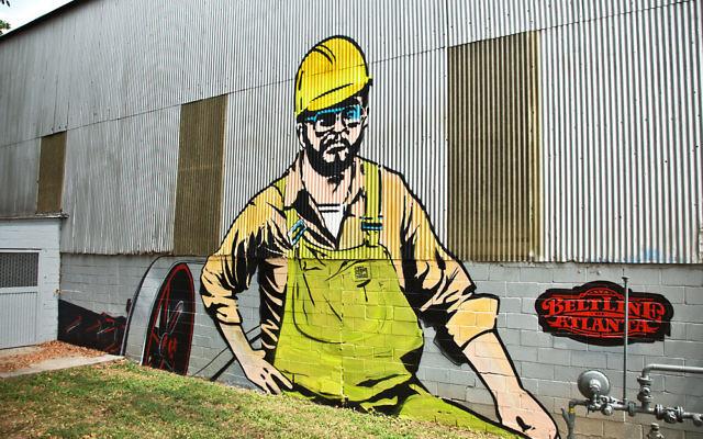 Stein Steel's mural looks toward the BeltLine.