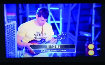 NBC Screengrab - Georgia tech Engineering student Elie Cohen competed in American Ninja Warrior as the World's Strongest Man-dolinist.