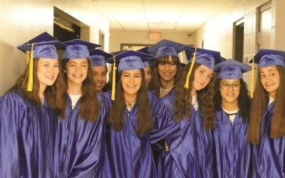 Graduates from the Torah Day School of Atlanta prepare for their graduation ceremony on June 11 at Congregation Beth Jacob.