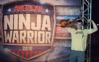 Atlanta native Elie Cohen poses before he runs the course at the American Ninja Warrior 10 Southeast regional qualifiers in Miami, Florida on April 13.