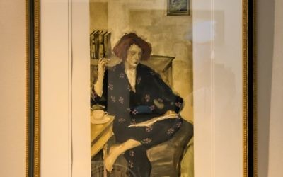 """""""Morning Coffee"""" by Malcome Liepke, who has done covers for top tier national magazines. His work lends a feeling of soul and place."""