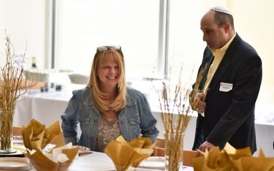Atlanta Jewish Academy first-grade teacher Jennifer Rosenblum and her new husband, Hank, are treated to a special lunch by students at the school.