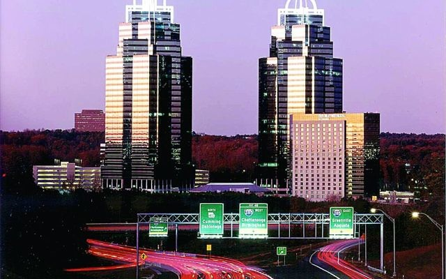 The King and Queen are landmarks in Sandy Springs.