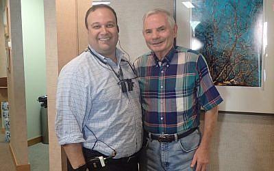 Dentist Michael Friedman (left) befriended Holocaust survivor Valery Kats while he was a patient.