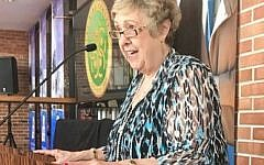 Sherry Frank speaks at a lunch celebrating women and the 50th anniversary of The King Center.