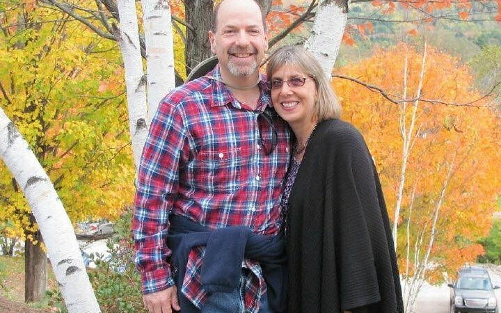 Mitch Cohen poses with wife Suzette who took her life 15 months after this photo.