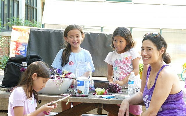 Kids at In the City Camp can participate in a number of arts and crafts projects.