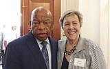 Con. John Lewis (D-Ga.) and Sherry Frank founded the Atlanta Black-Jewish Coalition.