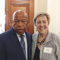 Con. John Lewis (D-Ga.) and Sherry Frank founded the Atlanta Black-Jewish Coalition.