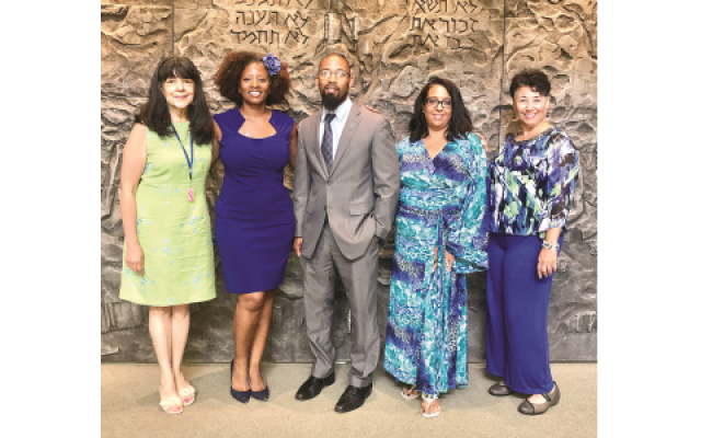 Speaking about diversity and their multicultural experiences are (from left) Barbara Nesin, Tarece Johnson, La'Mar Walker, Heidi Senior and TaRessa Stovall.