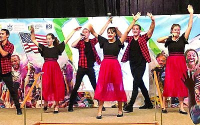Dancing, singing and storytelling are part of the Israeli scouts' entertainment.