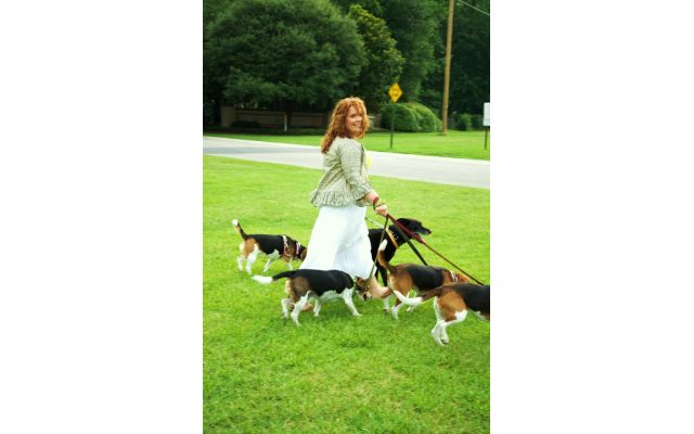 Nefesh Chaya spends time with her beagles and cherishes their walks together.