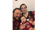 Daniel Quigley with his wife, Miriam, and new baby, Eve.