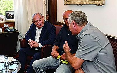 PM Benjamin Netanyahu meets with Druze community representatives.