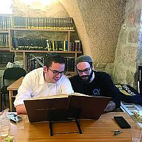 Natan Freller (right) is the new rabbinic intern at Congregation Etz Chaim.