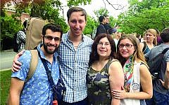From left: Jeffrey Silverstein, Geoff Schmelkin, Ellen Drake and Rabbi Rachel Schmelkin.
