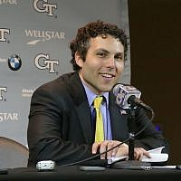 Coach Josh Pastner addresses the media after a game.
