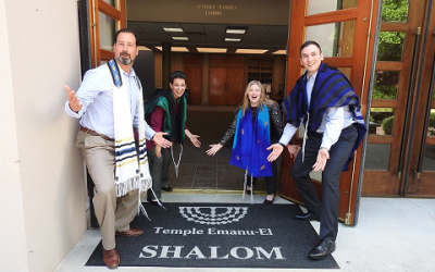 From left: Rabbi Spike Anderson, Rabbi Rachael Klein Miller, Cantor Lauren Adesnik, Rabbi Max Miller.