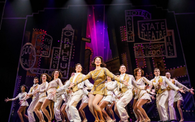 Leigh Ellen Jones as Peggy Sawyer the Broadway newcomer who becomes a star in 42nd Street //Photo credit: Springs Theatre Company
