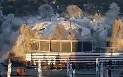 The November 2017 implosion of the Georgia Dome.