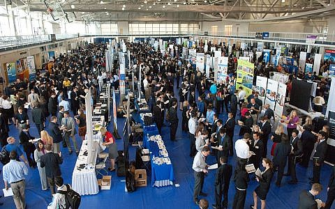 The 2017 Georgia Tech Career Fair was held at the Campus Recreation Center (CRC).