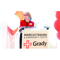 Atlanta native Renay Blumenthal raises millions for the thriving Grady Hospital Foundation.