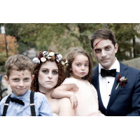 Mack, Brittany, Mimi and Alan Schwartzwald dressed up for Halloween.