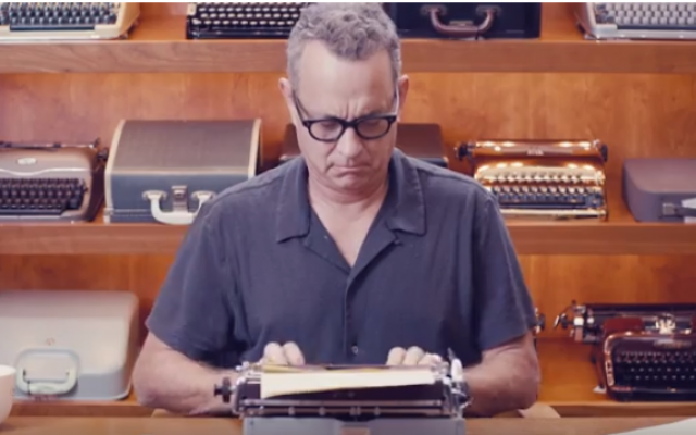 The 2018 MJCCA Book Festival features Tom Hanks who is an avid collector of antique typewriters. He writes about a different old typewriter in each of  the 17 short stories in his book Uncommon Type.