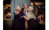 Founder and CEO of the Ovarian Cancer Institute, Dr. Benedict Benigno (center) is surrounded by cancer survivors Georgette Robertson and Ann Pinyan.
