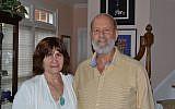 Carol Lipinksy with Rabbi Jeff Roth.