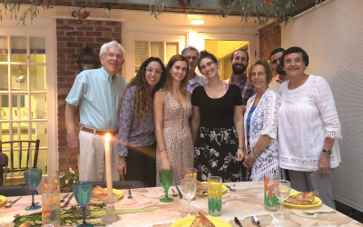 Doris and Marty Goldstein of Whitewater Creek hosted young Israelis who teach at Epstein School.