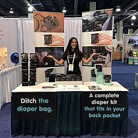 Alison Gordon showcases her product, Dwypers.