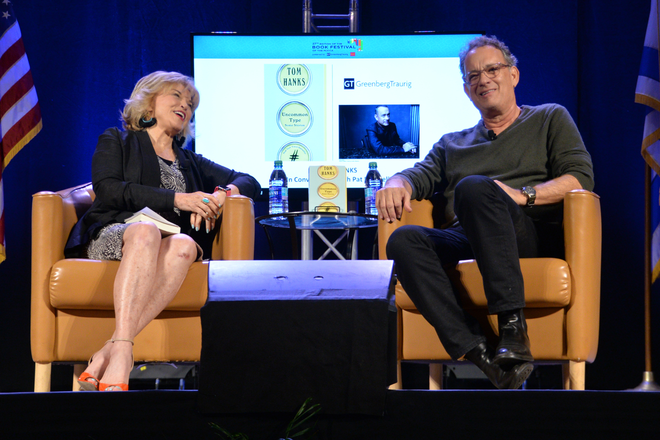 Tom Hanks In Conversation With Pat Mitchell Hammed It Up For The Aunce