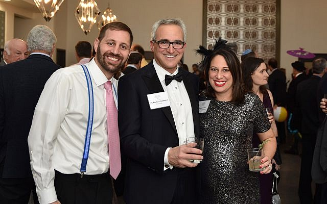 Elie Engler, Dr. Daniel Shapiro and Elana Frank at the 2018 Jewish Fertility Foundation's first gala event.