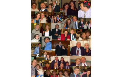 Fitzgerald, G.a. collage of community members from the High Holidays.