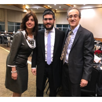Esther and Rabbi Allouche and Brian Gordon, chair of Shabbat Project Beth Tefillah.