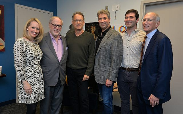Photo by Heidi Morton for Peachtree Pictures // Greenberg Traurig partners join celebrity opening night headliner, from left, Louise Cohen, Gary Snyder, Tom Hanks, Ted Blum, Joshua Blum and Allen Altman.