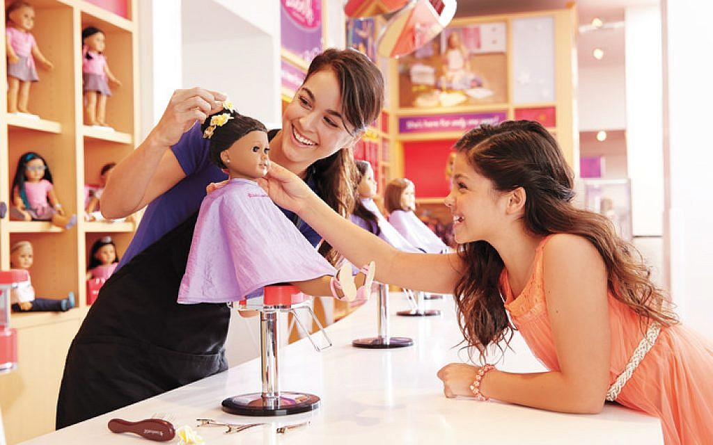 American Girl retail site includes a Doll Hair Salon.