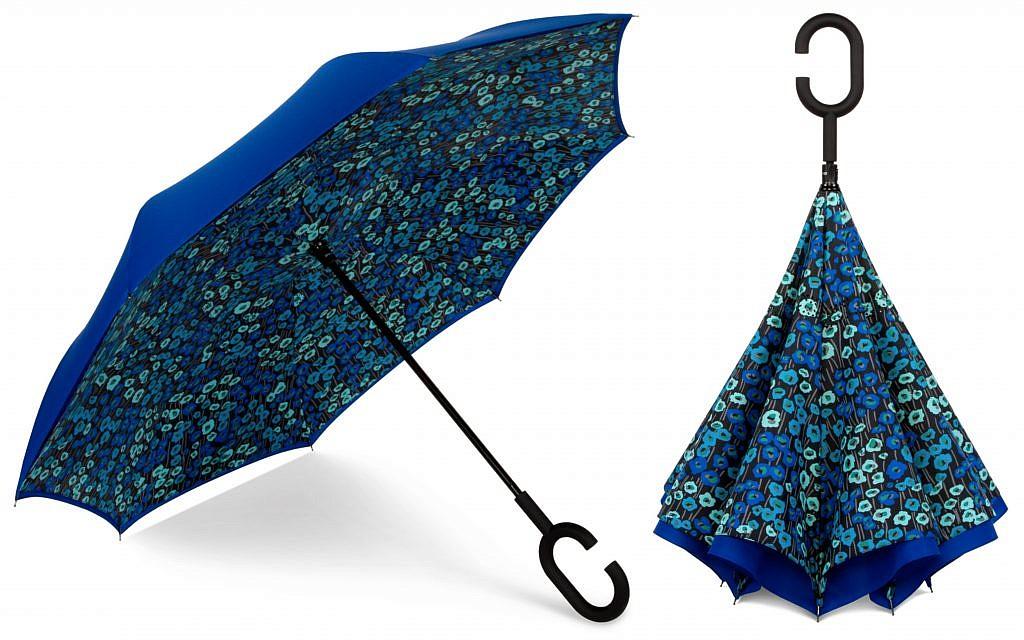 ShedRain's selection includes the UnbelievaBrella reversable umbrella.