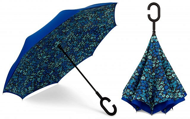 ShedRain's selection includes the UnbelievaBrella reversable umbrella.