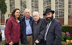 Rabbi Isser New (right) with the father, sister and brother-in-law of David and Cecil Rosenthal.