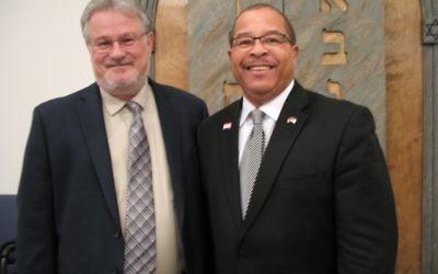 Rabbi Rick Harkavy and the Rev. Ed Johnson