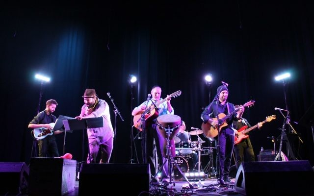 Moshav and Rabbi Karmi David Ingber play at Kehilla Fest in 2015.