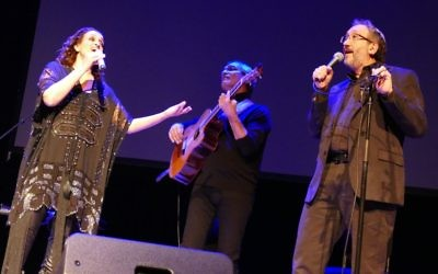 Rabbi Mark Zimmerman (right) joins Noa and Gil Dor for their encore Feb. 14 at Kennesaw State University.