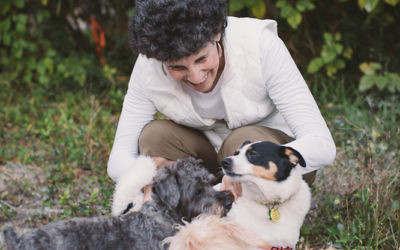 Author Melissa Fay Greene has three rescue dogs at home.