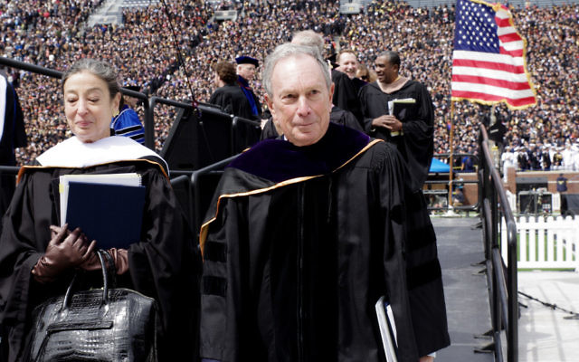 Michael Bloomberg speaks at the University of Michigan commencement this spring. (Photo courtesy of Bloomberg Philanthropies)