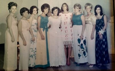 All but one of the women in this photo from Roberta and Alan Sher's wedding in 1966 made it to the reunion May 8 and 9.