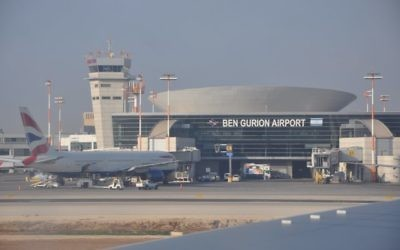 Ben Gurion International Airport in Tel Aviv.