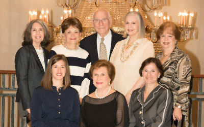 Preparing for Hadassah Greater Atlanta's gala centennial celebration Oct. 30 are (back row from left) Phyllis M. Cohen, Lois Blonder, Larry Frank, Martha Jo Katz and Linda Hakerem and (front row from left) Ren